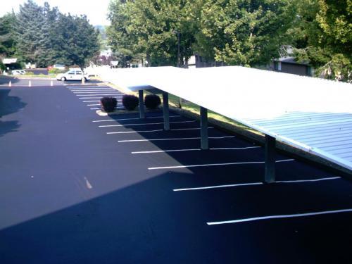Hilltop parking lot